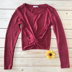 Cotton On Long Sleeve Crop Top NEW